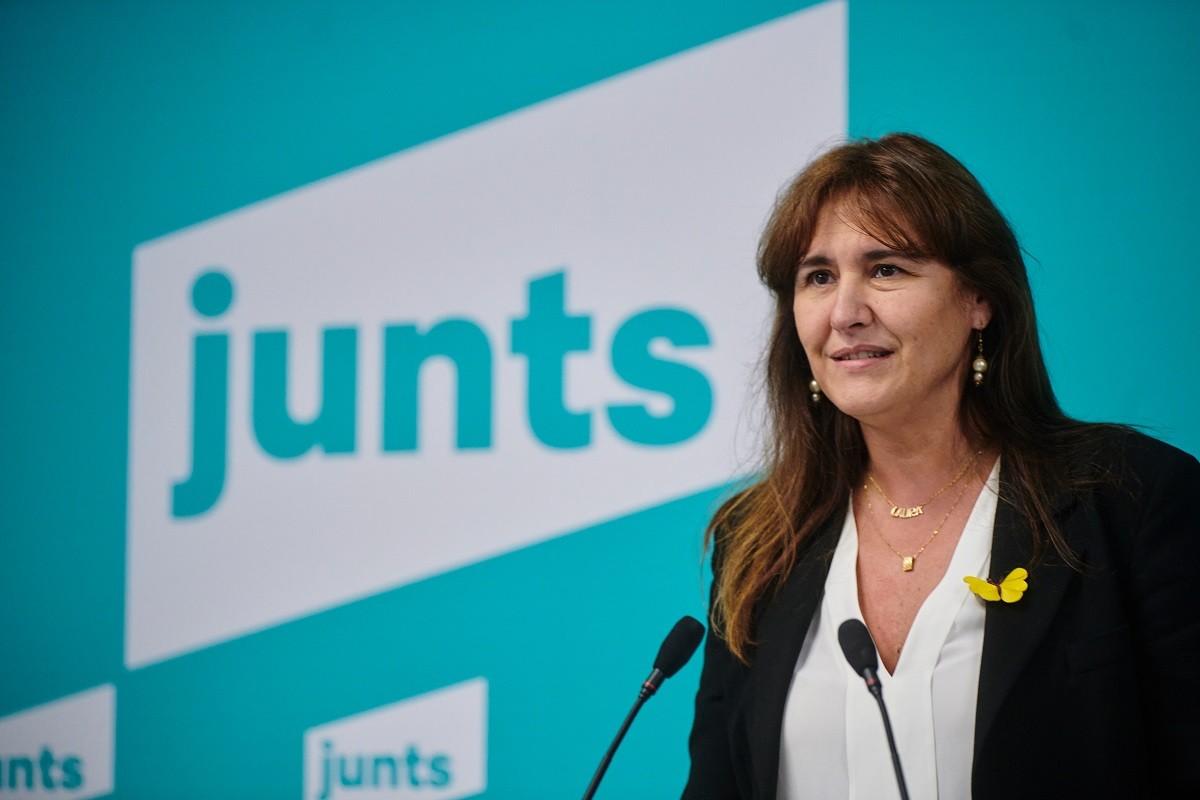 La presidenciable de Junts, Laura Borràs.