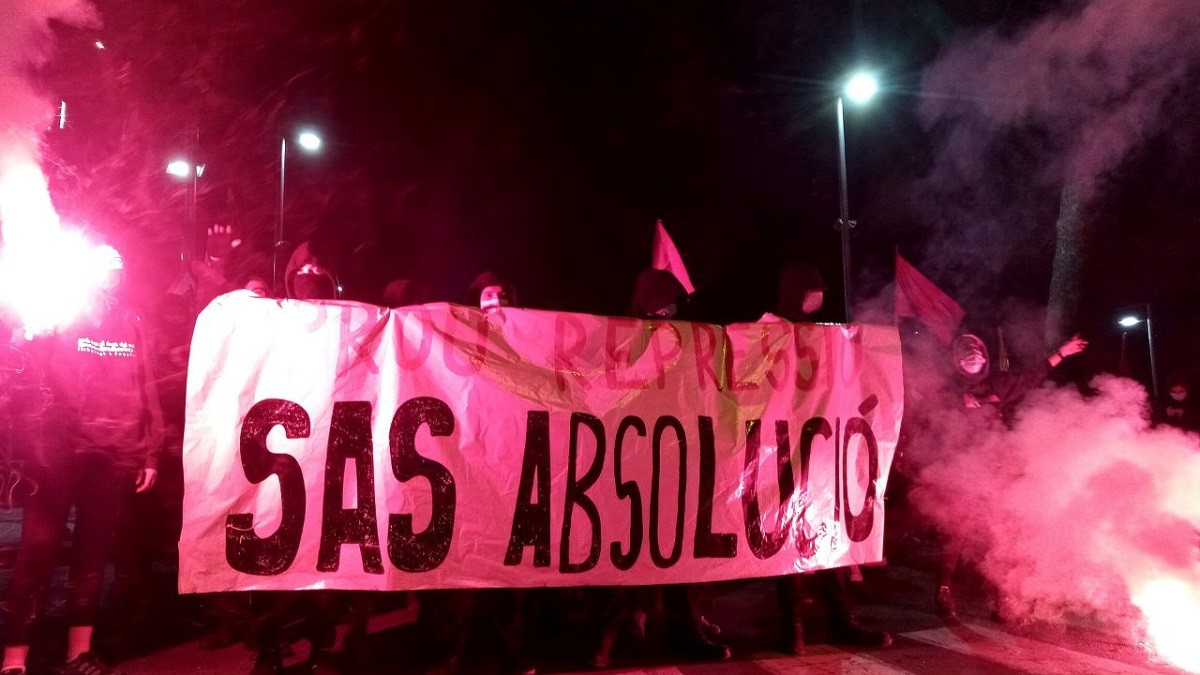 Manifestació a Vilafranca contra la condemna a Adrián Sas