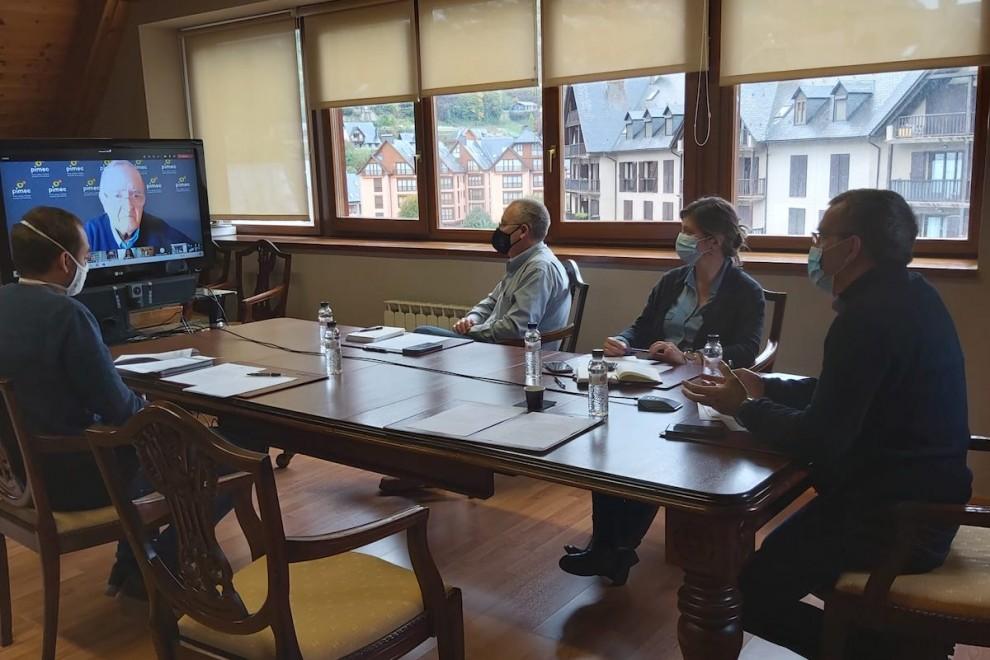 Imatge de la reunió telemàtica del passat mes d'octubre