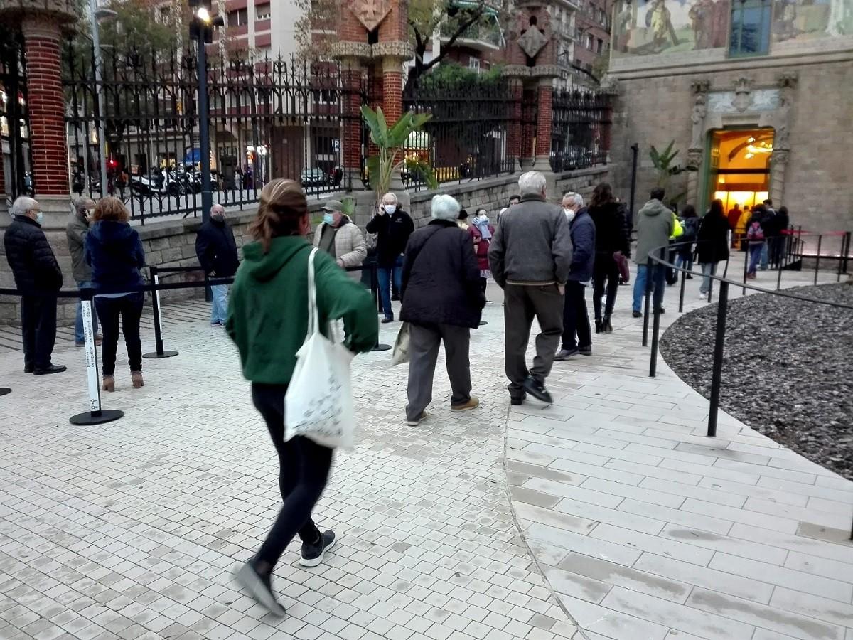 Cribratge al recinte modernista de Sant Pau