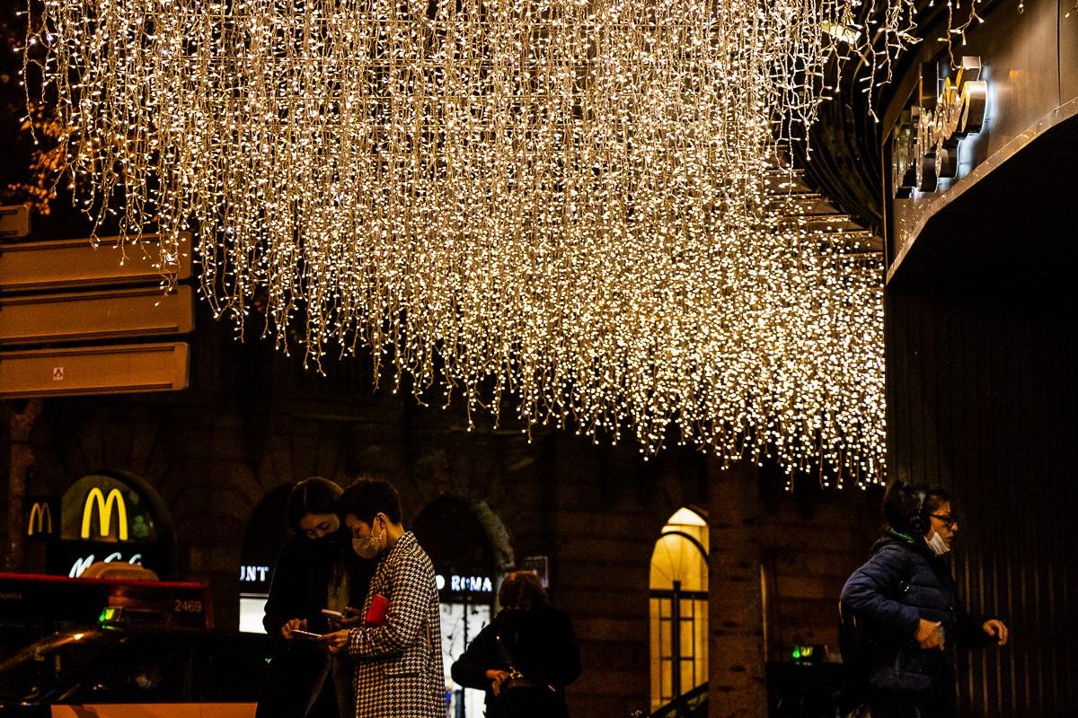 Ambient nadalenc al centre de Barcelona