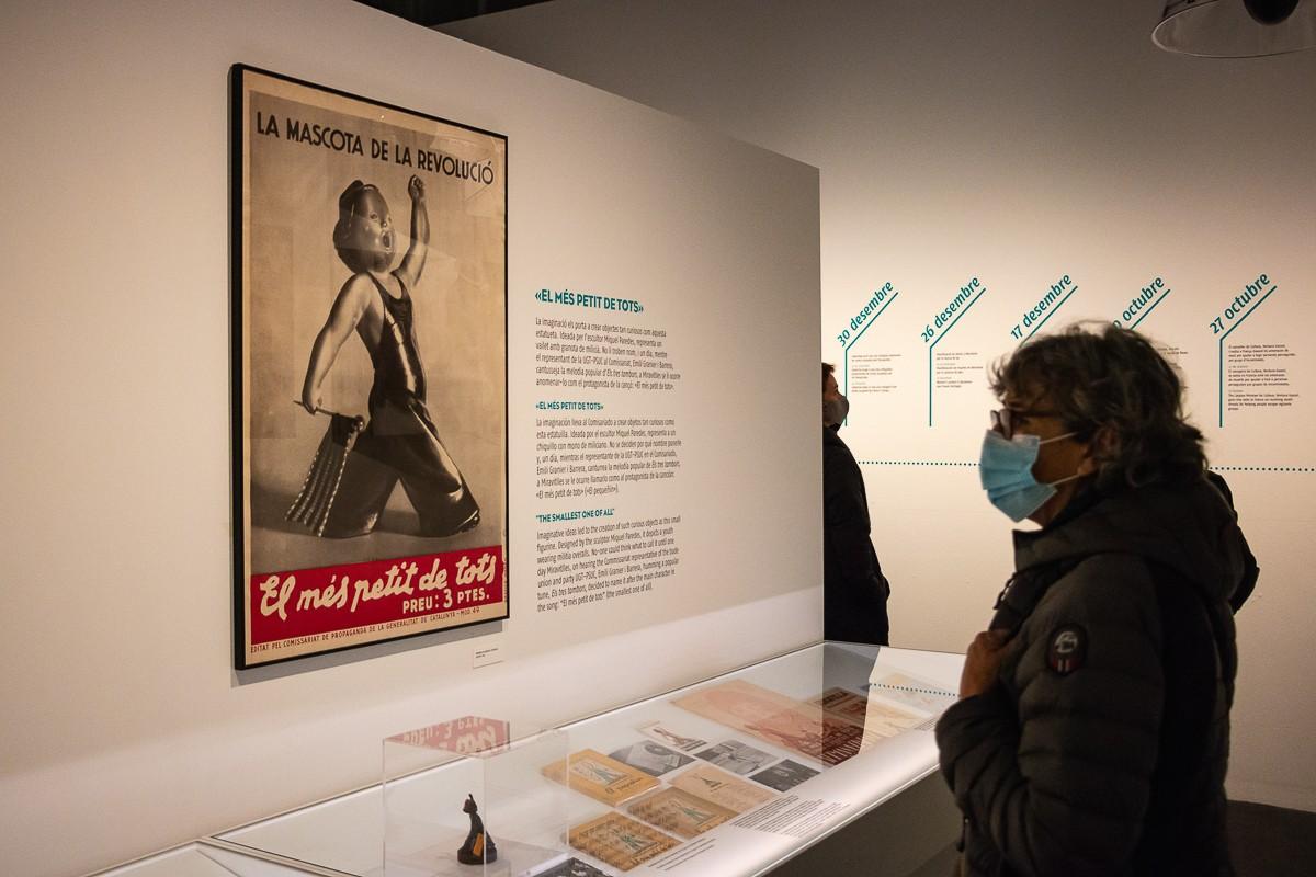 L'exposició «Aixafem el feixisme», al Palau Robert