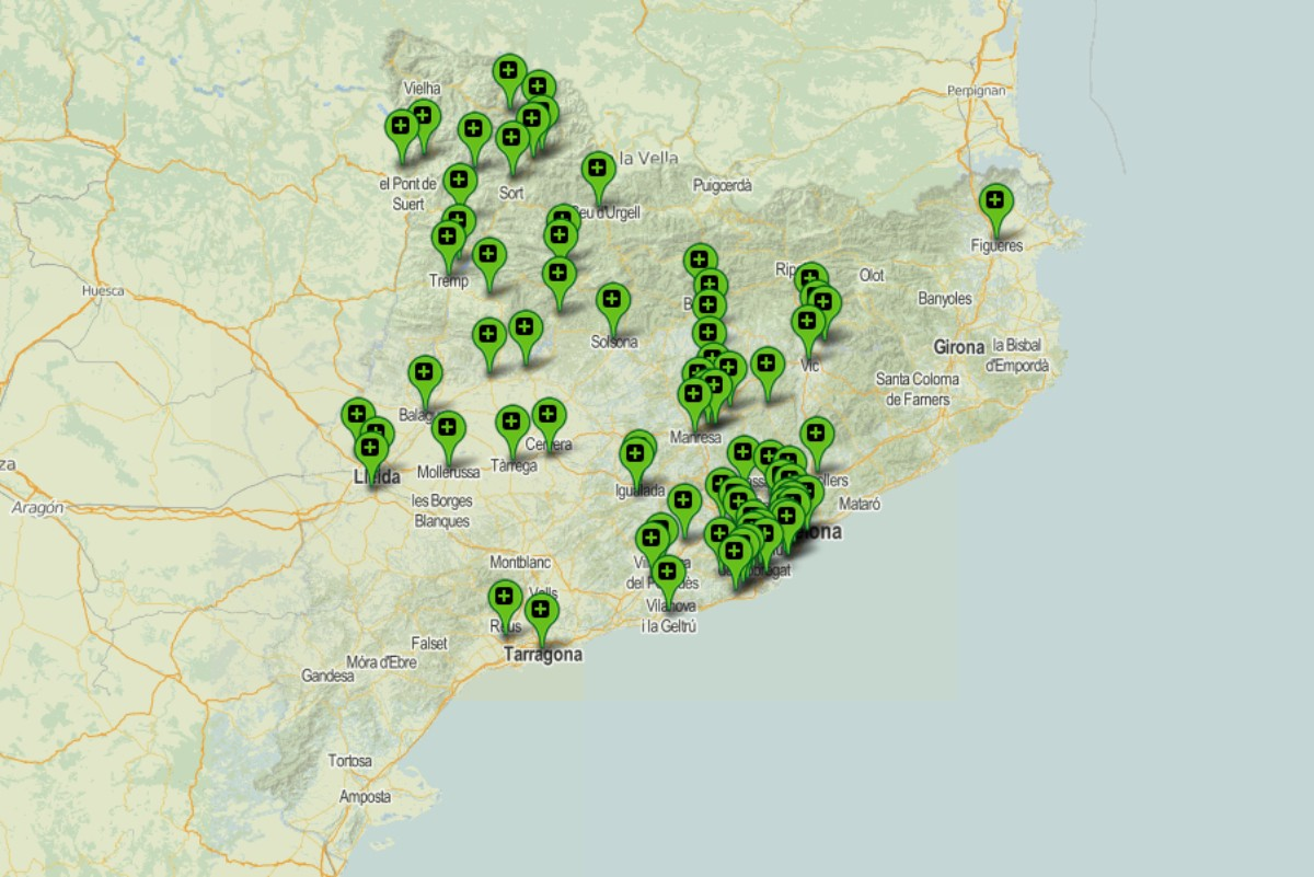 Mapa amb els municipis on hi ha previstos cribratges massius.