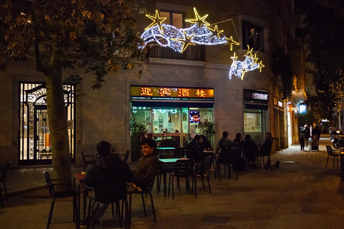 Ambient en una terrassa de Barcelona