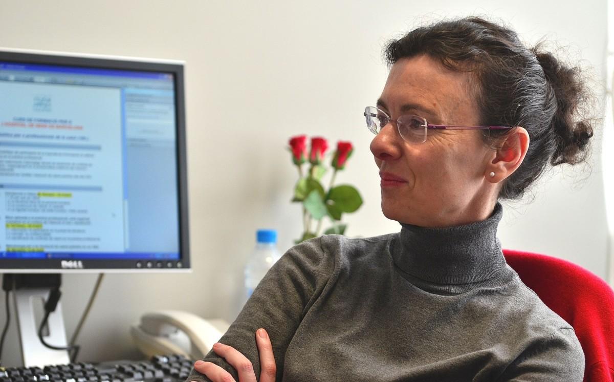Begoña Román constata que en l'àmbit de la Filosofia hi ha poques dones.