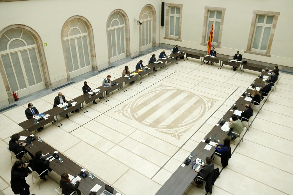 Els partits, reunits aquest divendres al Parlament per abordar el protocol del 14-F