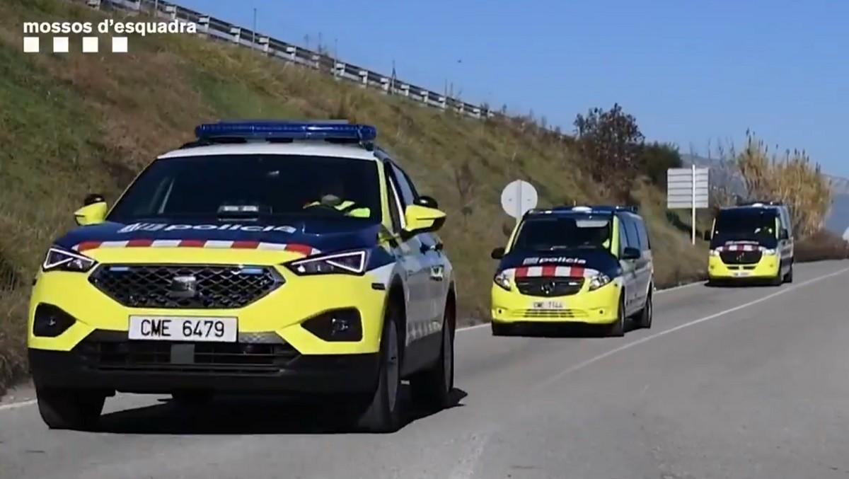 Els nous vehicles dels Mossos de trànsit.
