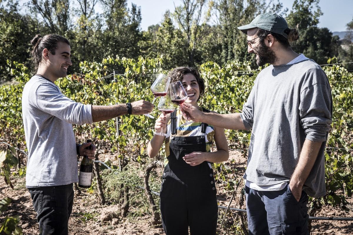 Carles Muray amb Jo Jet i Maria Ribot a l'Oller del Mas