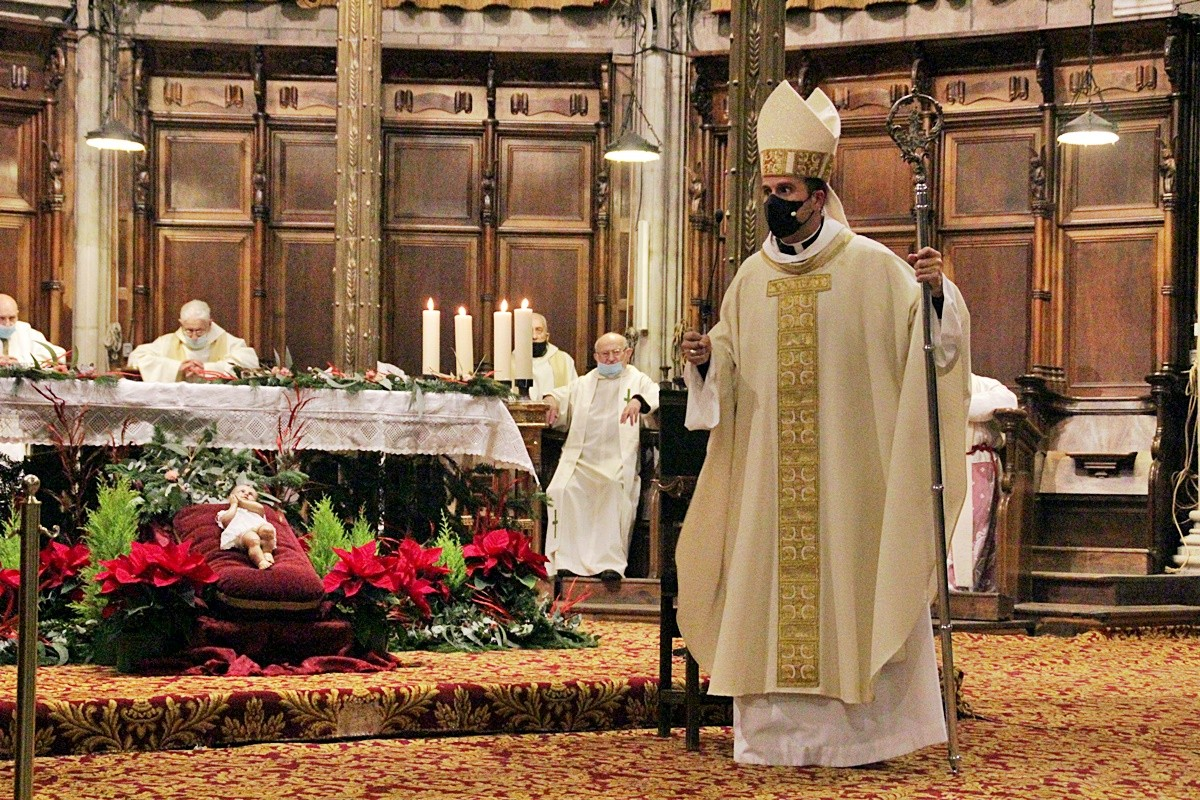 El bisbe Novell a la catedral de Solsona.