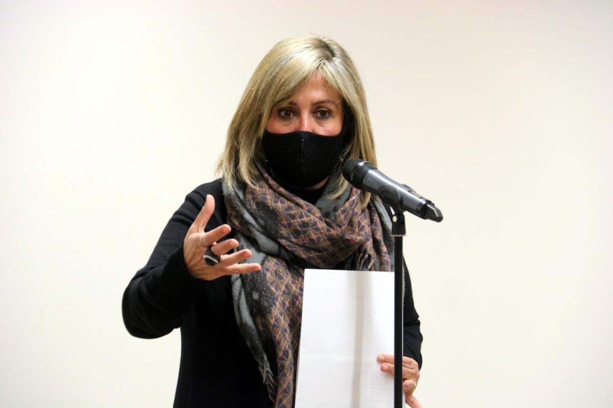 Núria Marín, en la compareixença del dia en què ser detinguda pel cas Consell Esportiu.