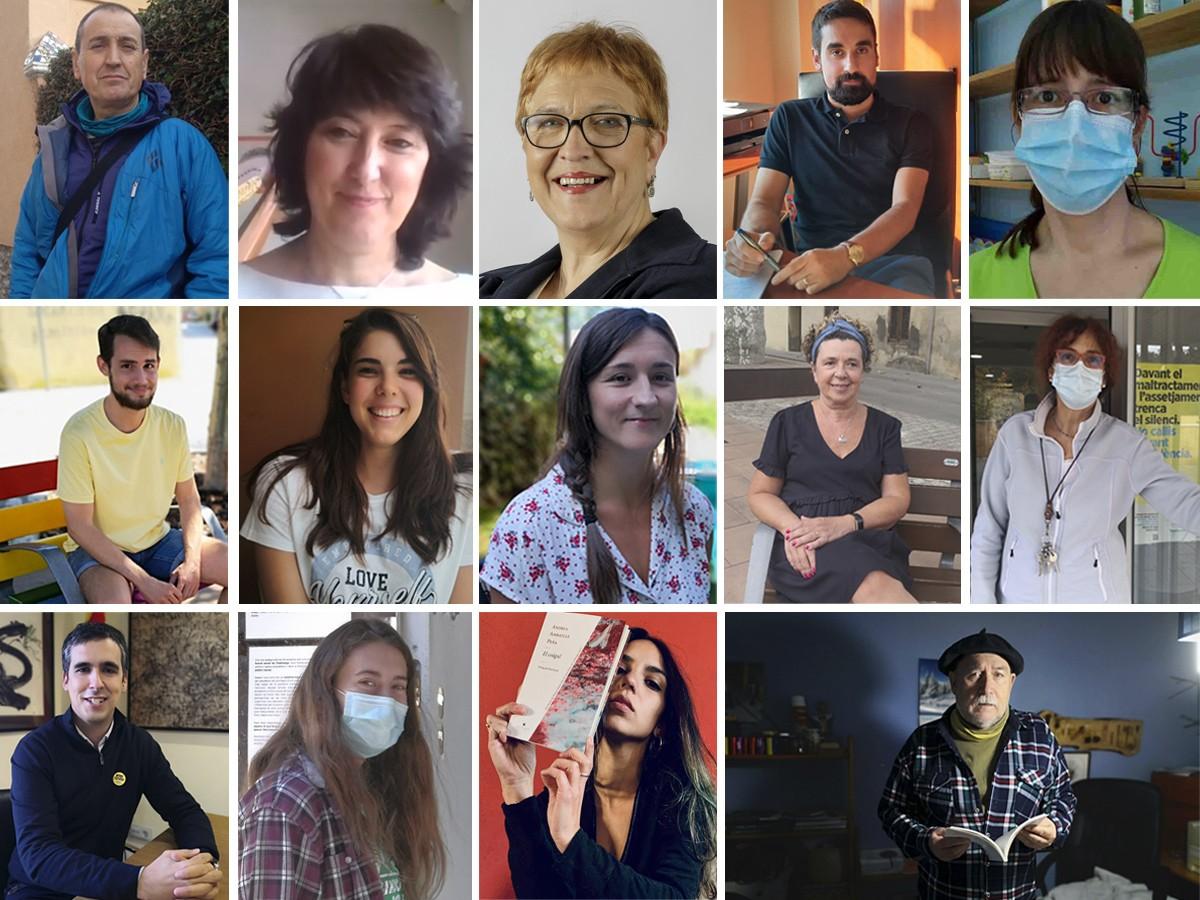 Els protagonistes de les entrevistes del 2020 al Baix Montseny