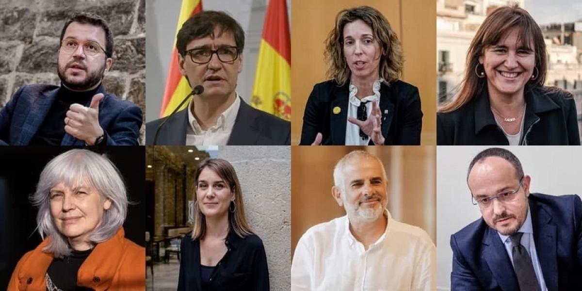 Els candidats de les principals formacions amb opcions de representació al Parlament