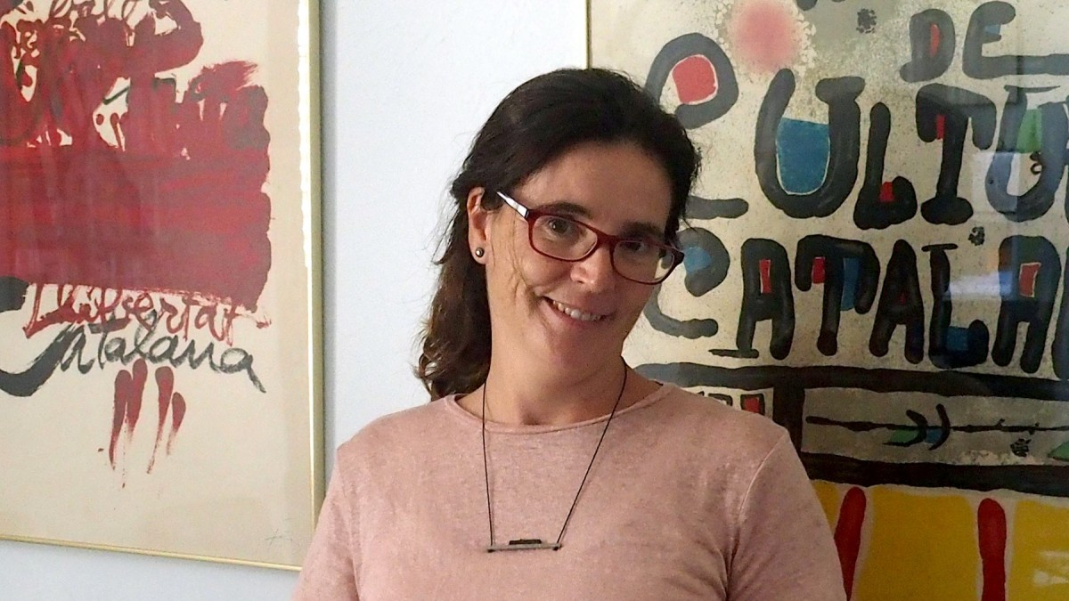 L'economista Ada Ferrer, a la seu de la Fundació Congrés de Cultura Catalana.