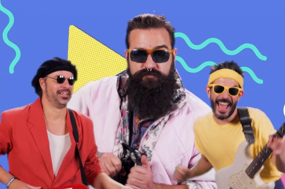 Membres d'Alma de Boquerón al videoclip «Maduro vintage»