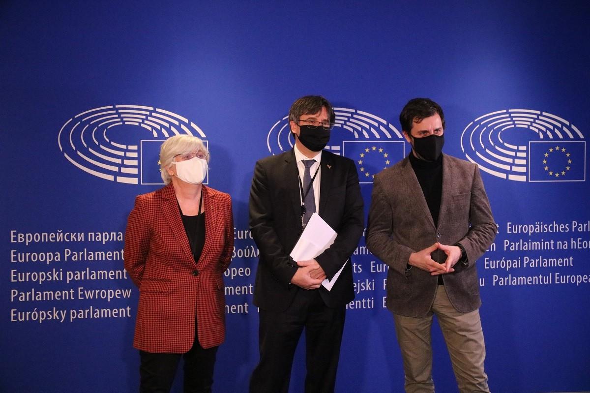 Puigdemont, Comín i Ponsatí aquest dijous al Parlament Europeu abans de comparèixer a la vista del suplicatori