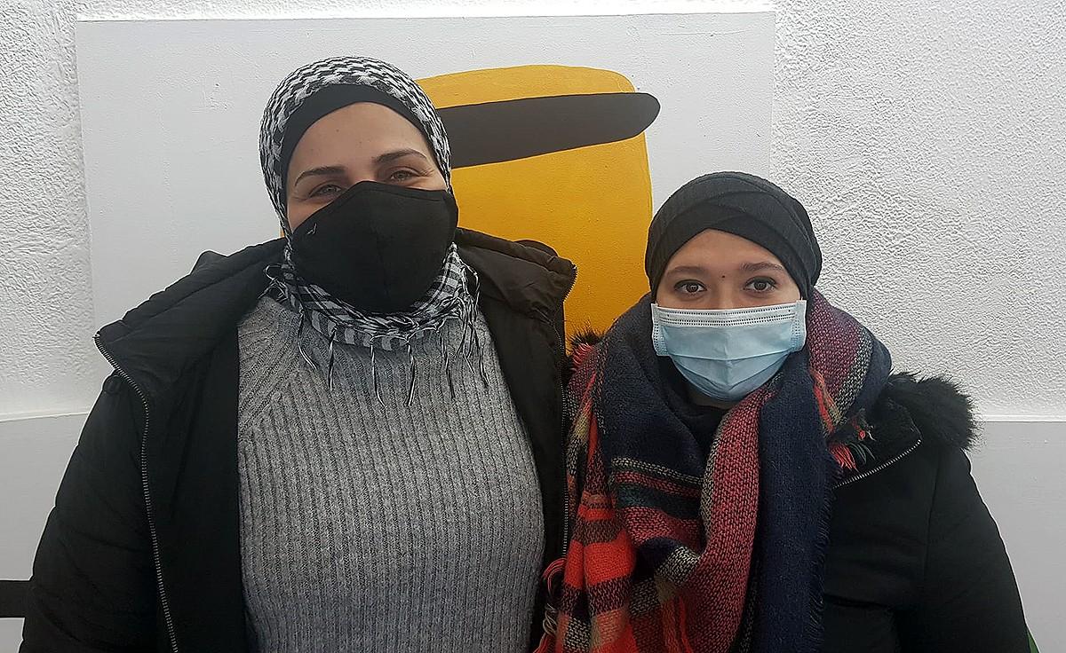 Khadija El Bachiri i Siham Arraj, de l'associació de dones Al Noor