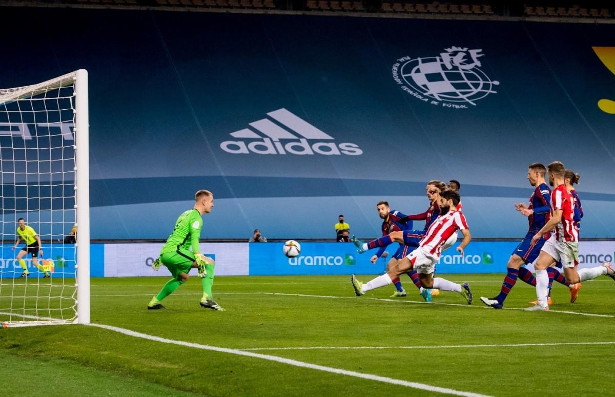 El gol de l'Athletic que ha dut la final a la pròrroga.
