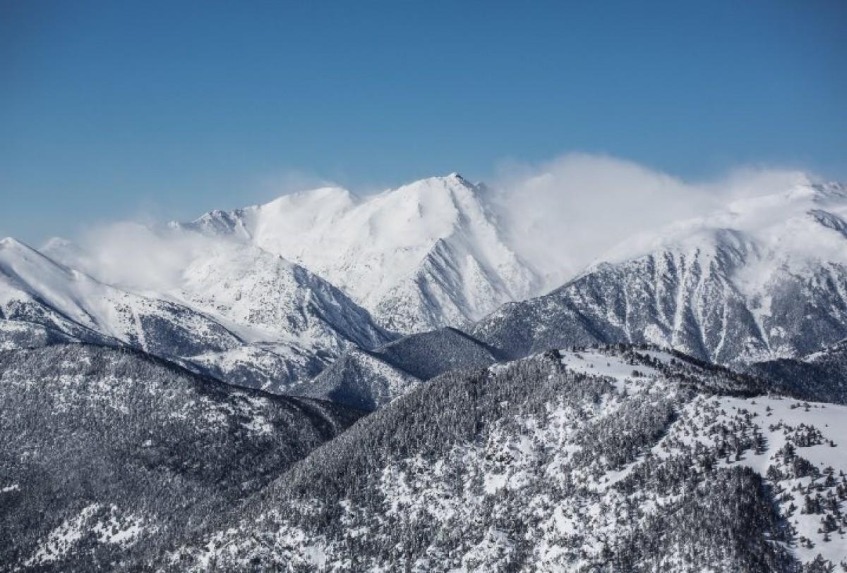 Les muntanyes d'Andorra, nevades.