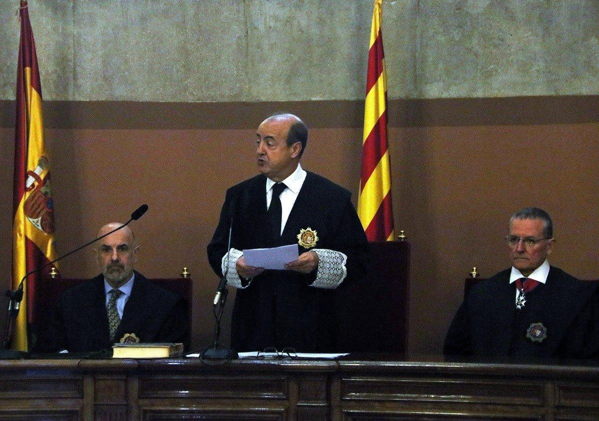 El president del TSJC, Jesús María Barrientos, en una imatge d'arxiu