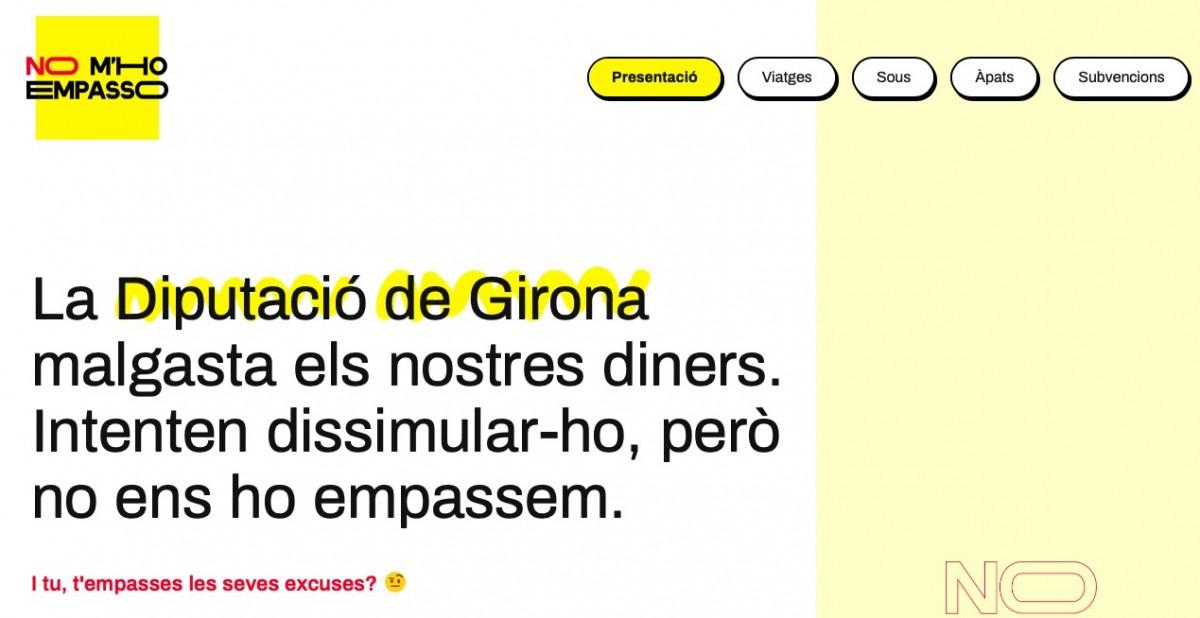 La CUP ha engegat el web nomhoempasso.cat per a «aixecar la catifa» a la Diputació de Girona.