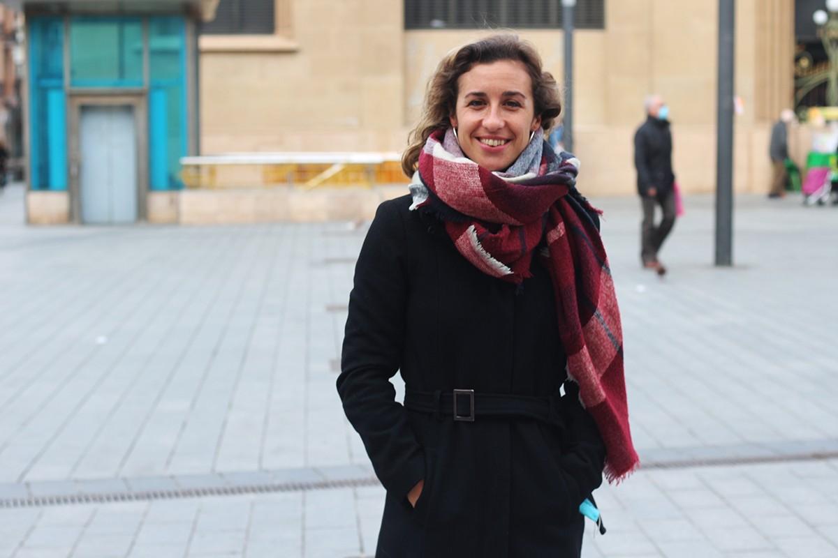 Laia Estrada, candidata de la CUP per al 14-F per la demarcació de Tarragona.