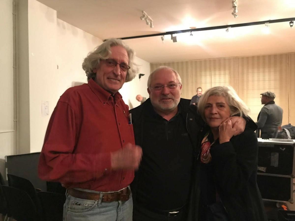 Lluís Puig amb Jordi Fàbregas i la seva dona Lola Capdevila