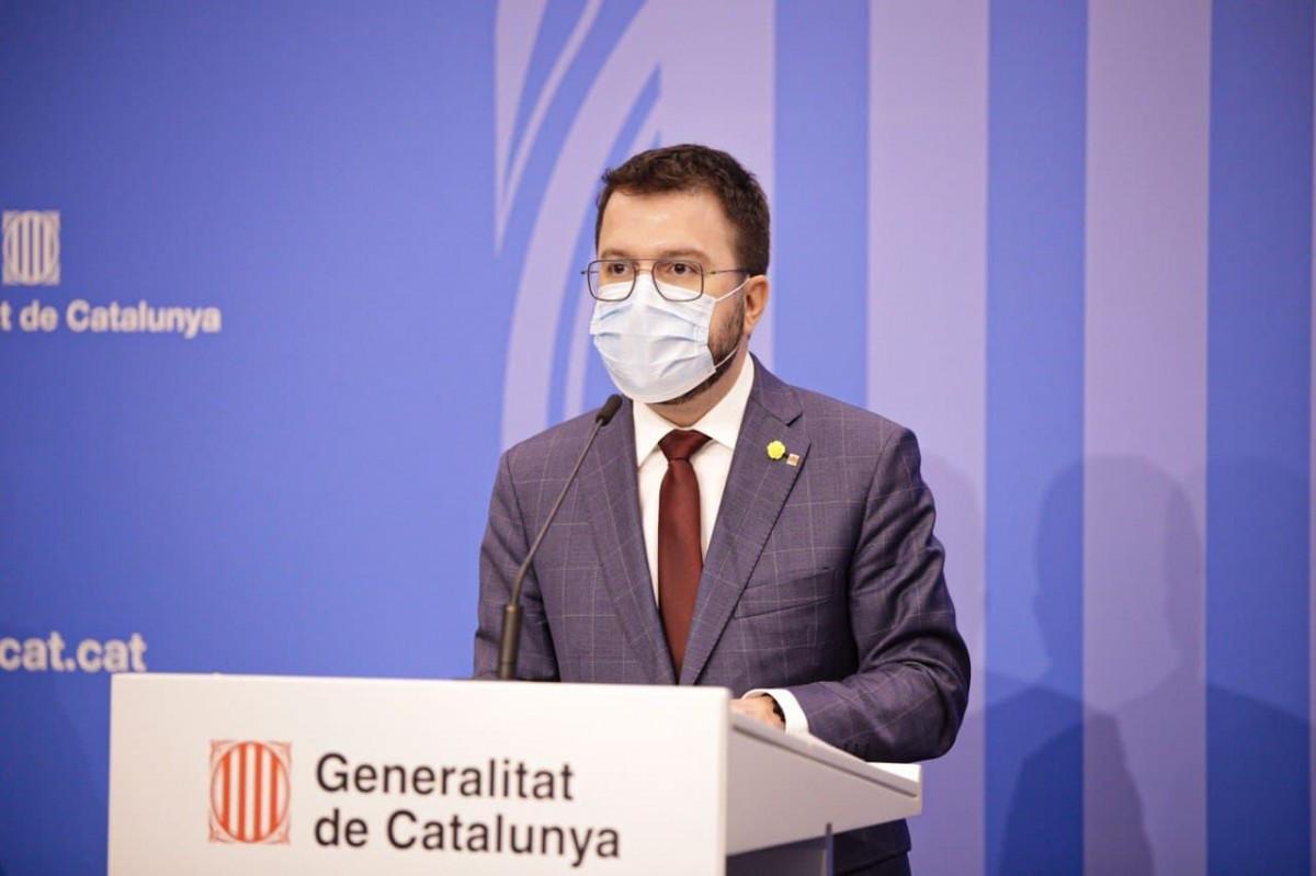 El vicepresident del Govern, Pere Aragonès, aquest dilluns