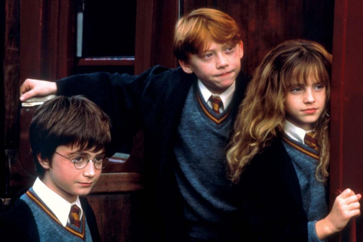 Els tres protagonistes a «La pedra filosofal»