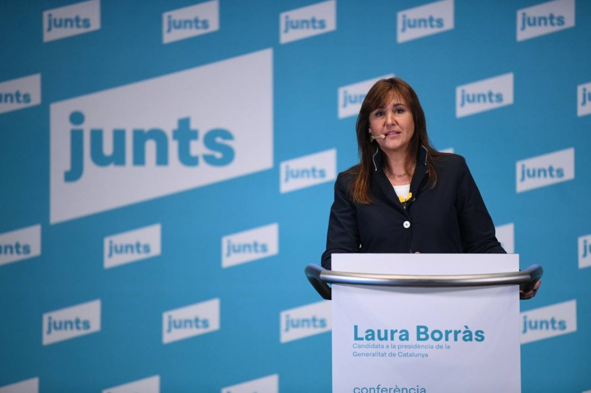 Laura Borràs, aquest dimecres.