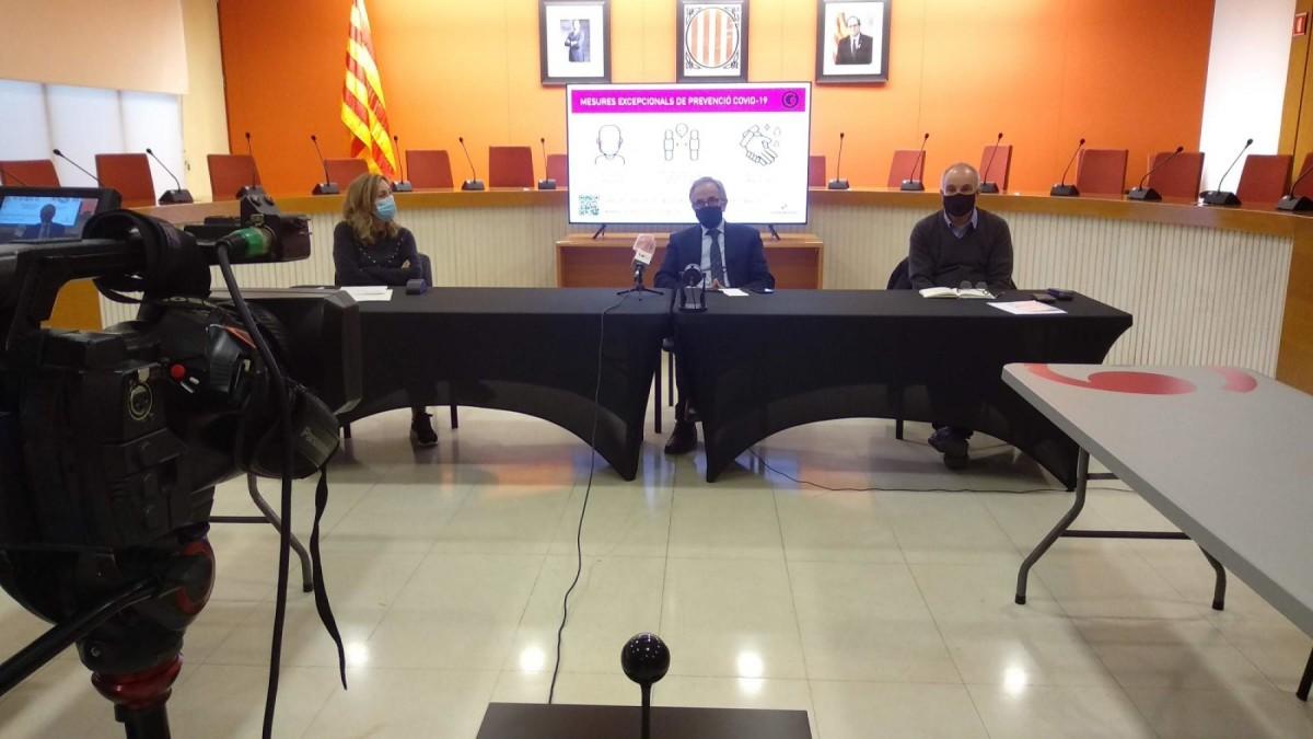 La roda de premsa a Granollers per explicar el dispositiu per les eleccions al Parlament de Catalunya