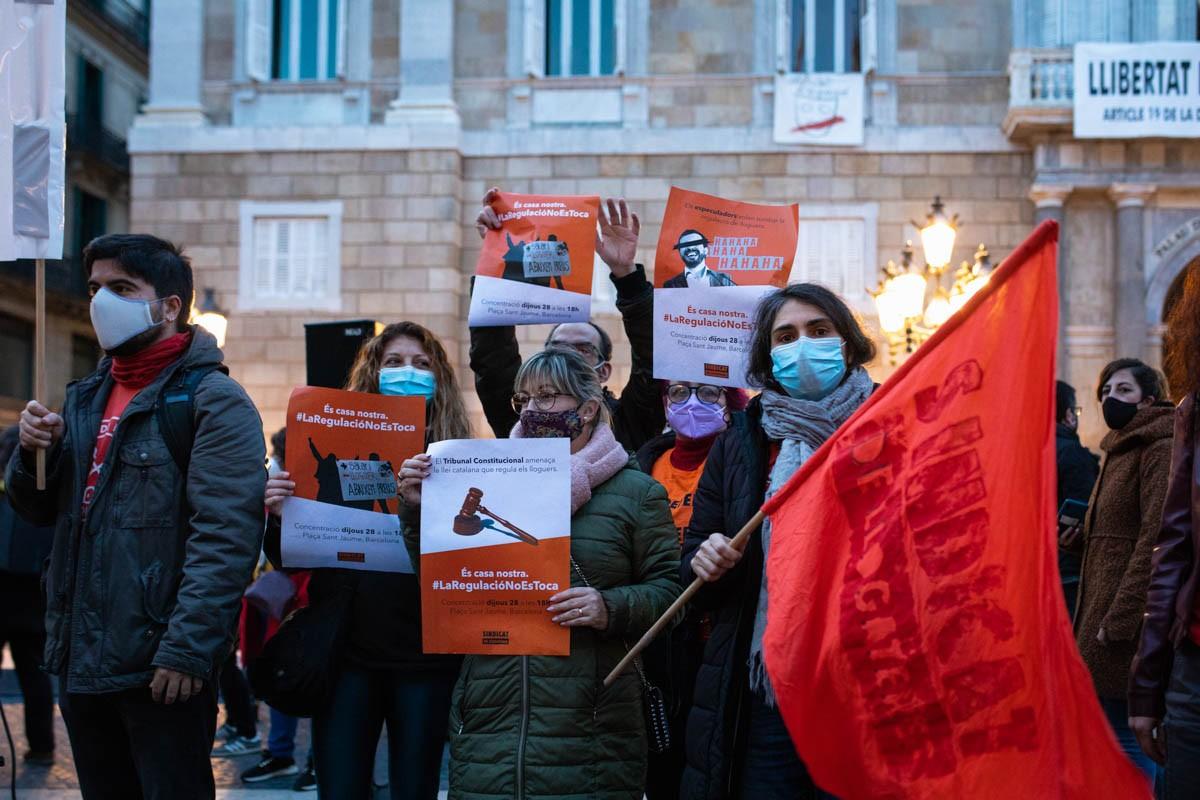 Una protesta del Sindicat de Llogaters