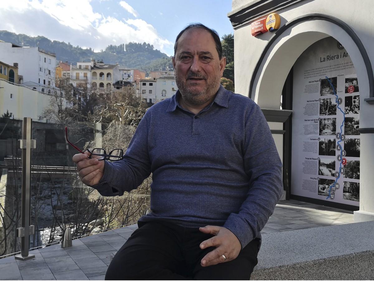 Pere Garriga, alcalde d'Arbúcies, opina que la divisió territorial actual no s'adiu a les necessitats reals de la ciutadania