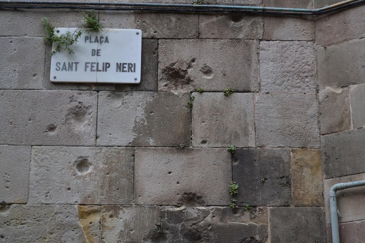 Marques de bombardeig Sant felip Neri