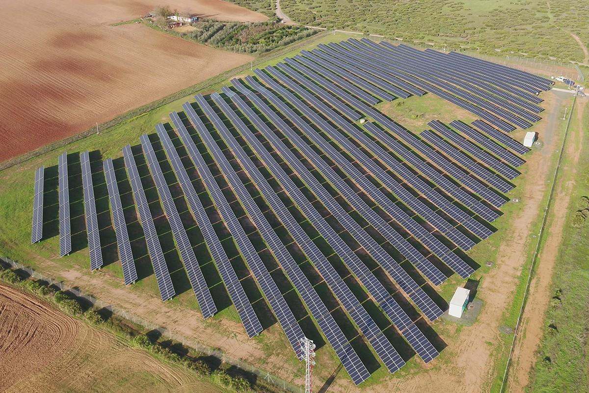 Vista general d'una  planta solar fotovoltaica.