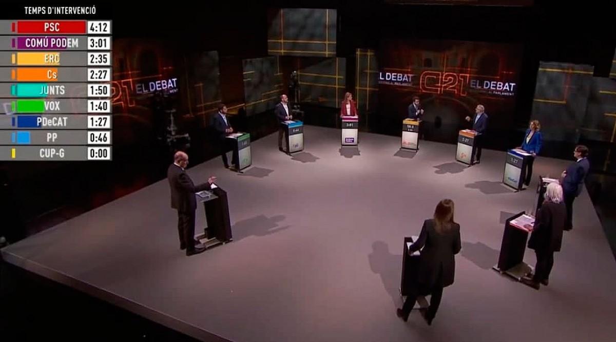 Un moment del debat de TV3