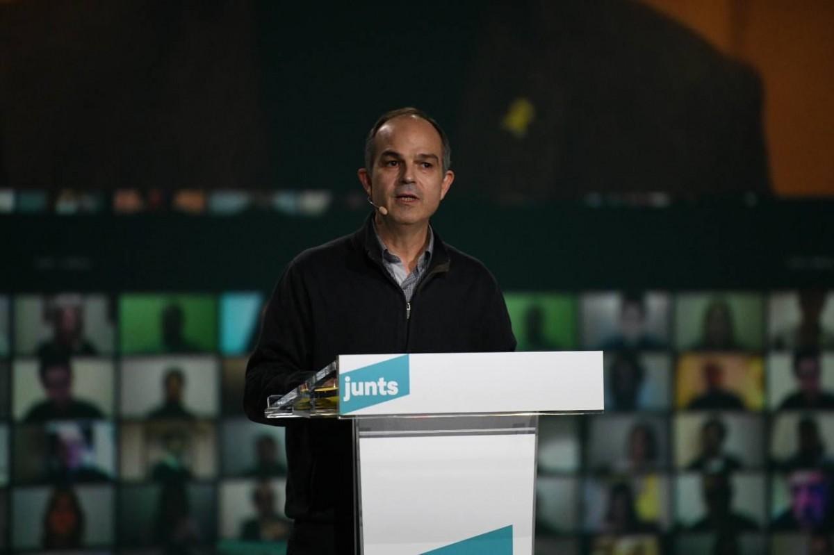 Jordi Turull, en el míting final de campanya de Junts