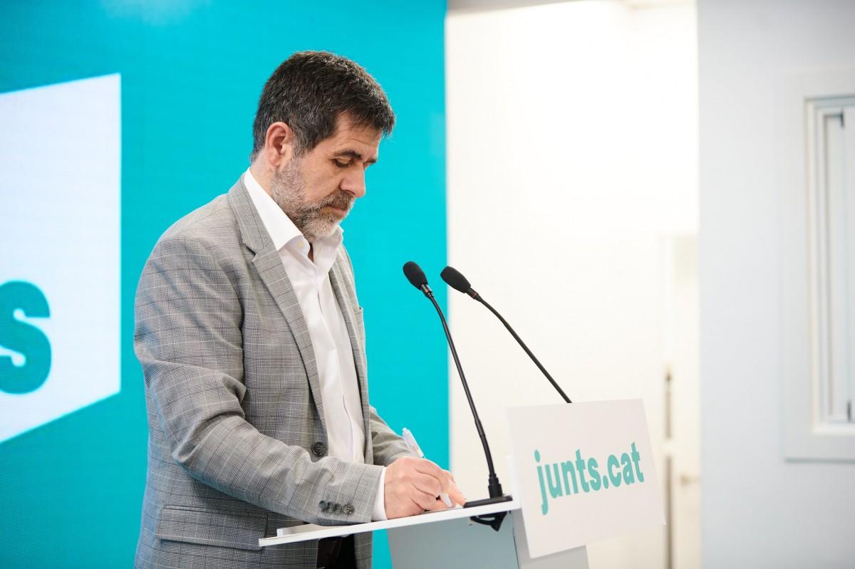 Jordi Sànchez, en roda de premsa.