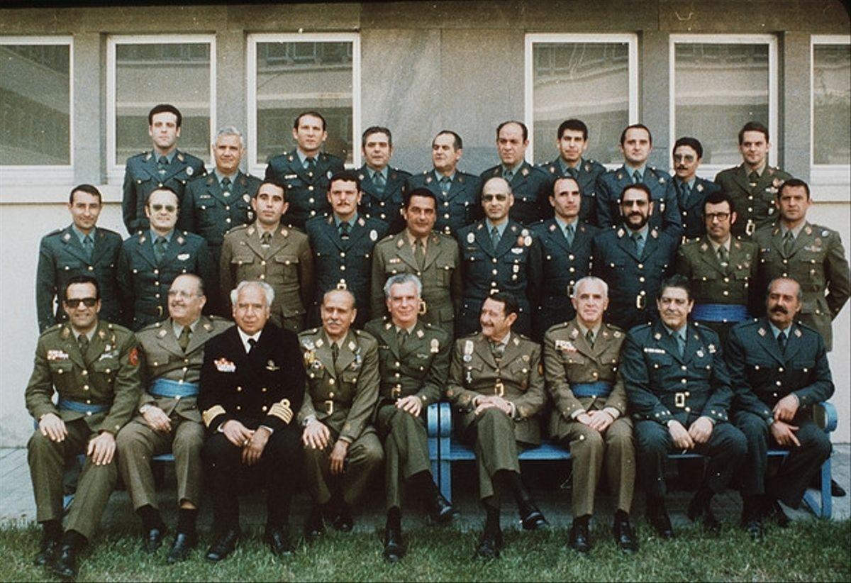Els principals colpistes, en una imatge prèvia al judici del 23-F