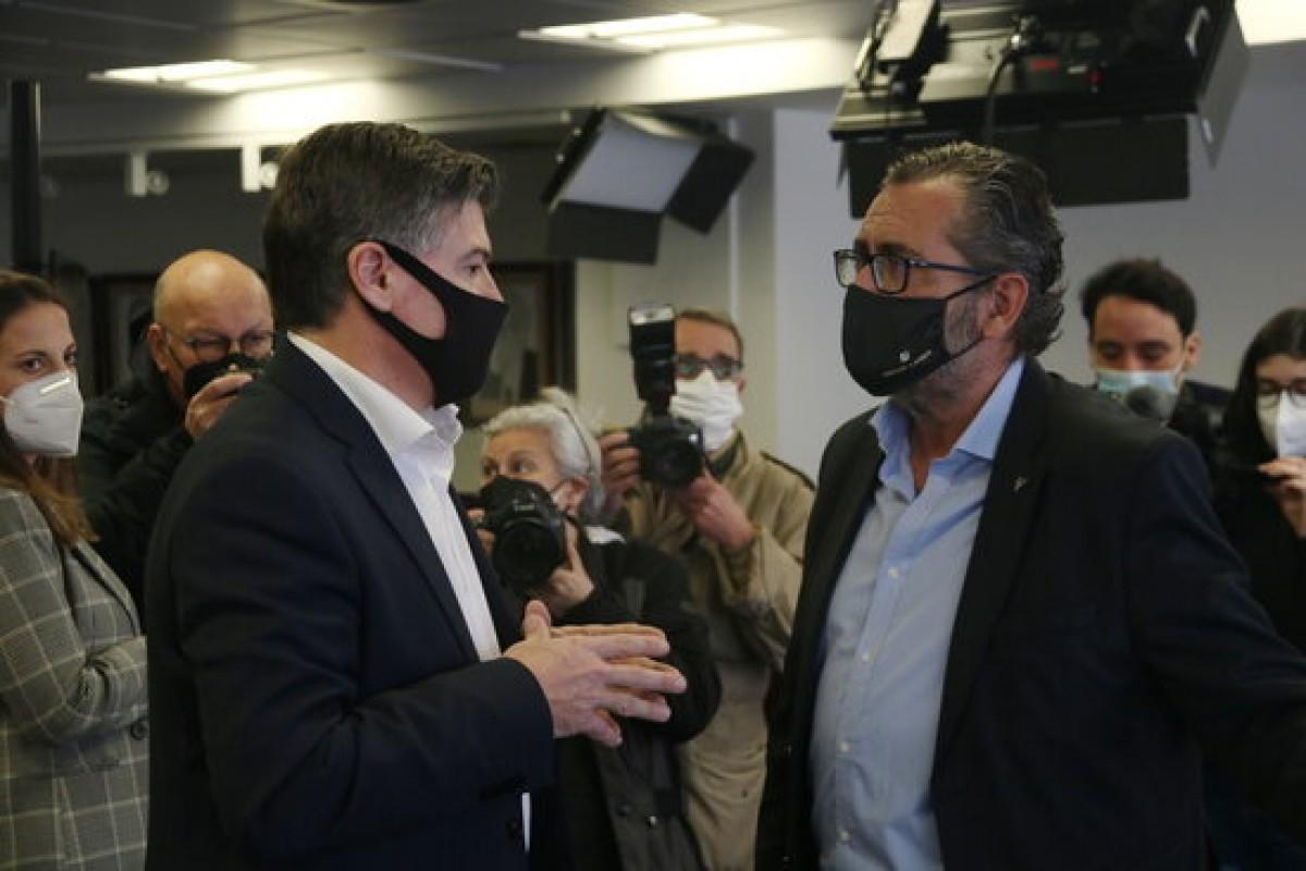 Antoni Cañete i Pere Barrios aquest dimarts a la seu de Pimec.