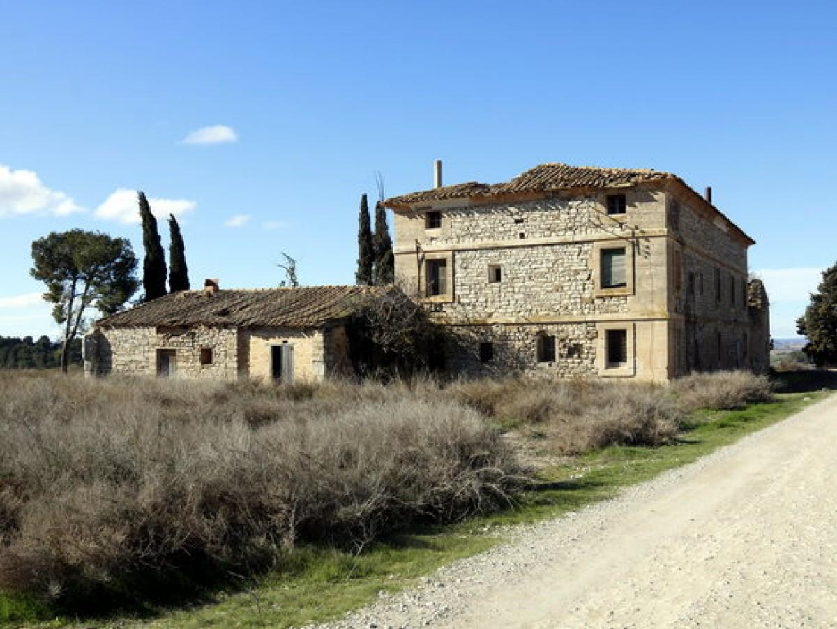 Pla general de la casa de Vallmanya on estiuejava Francesc Macià, actualment deteriorada per la manca de manteniment