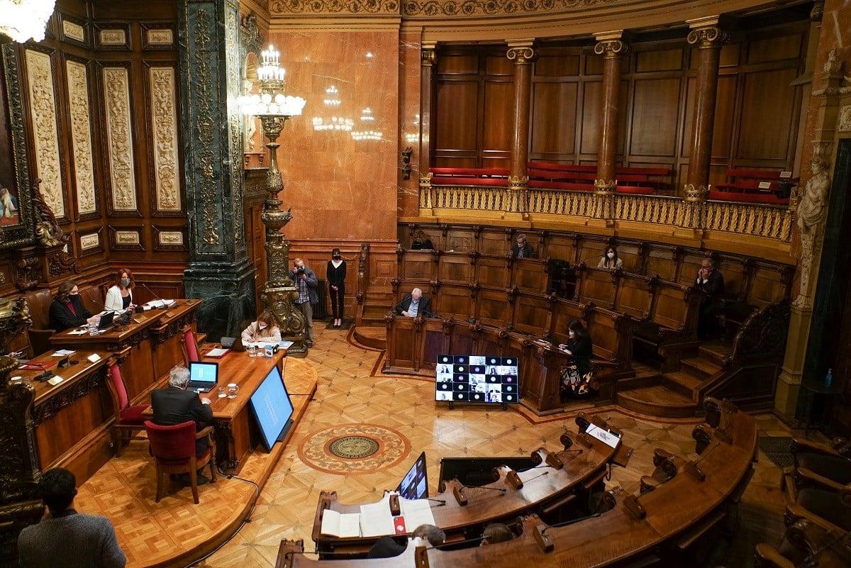 Una imatge de la sessió plenària a l'Ajuntament
