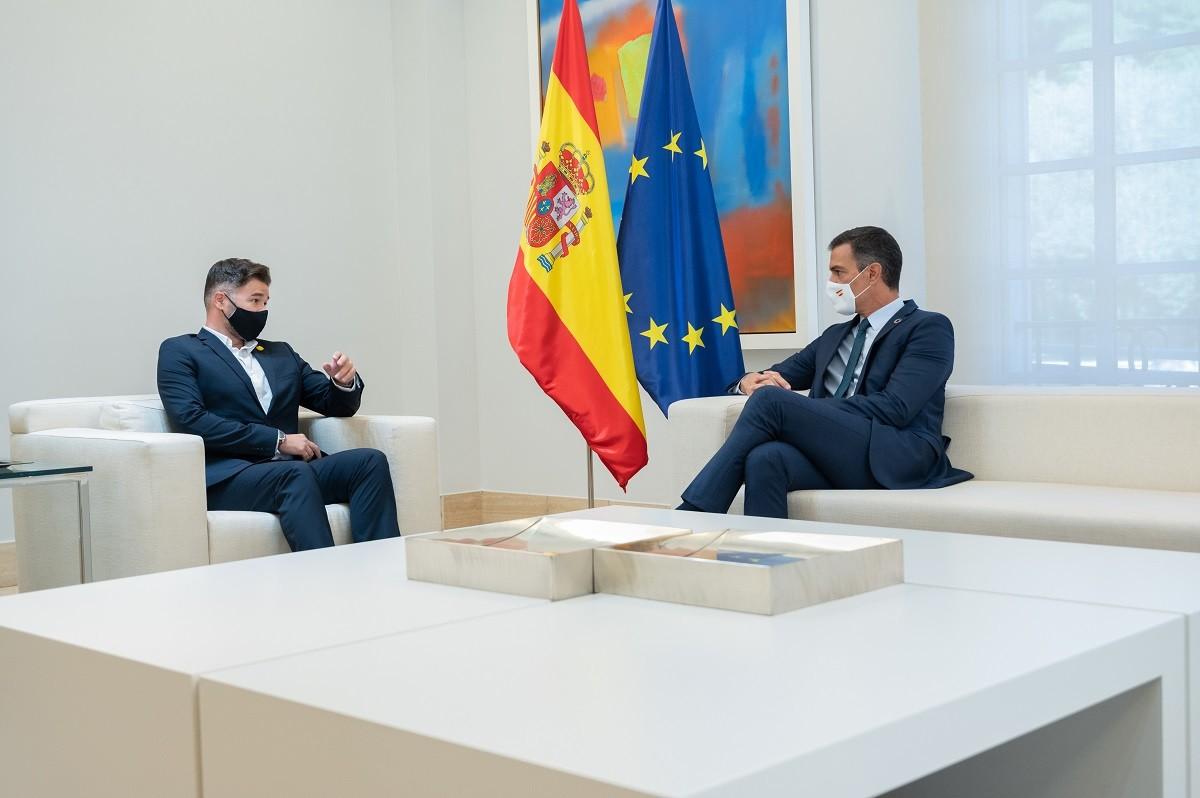 Pedro Sánchez i Gabriel Rufián, reunits el passat setembre