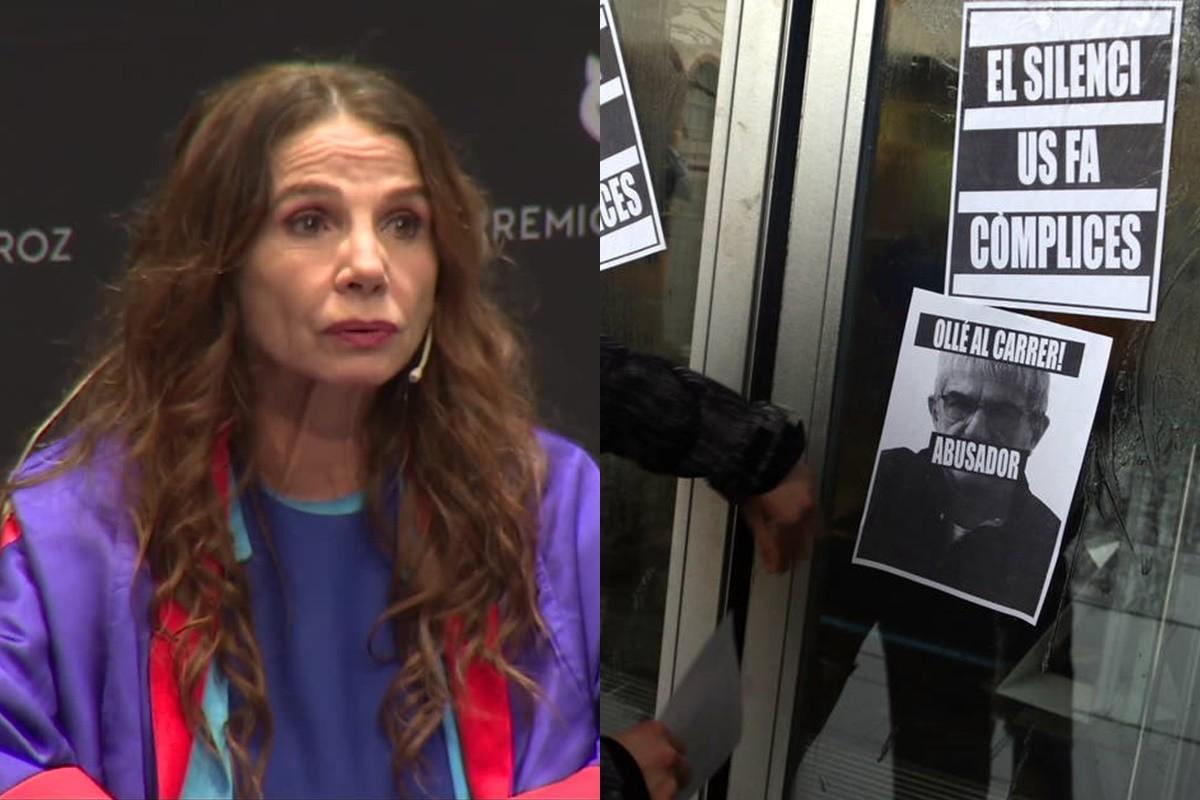 Victoria Abril als Feroz i les protestes a la Institut del Teatre