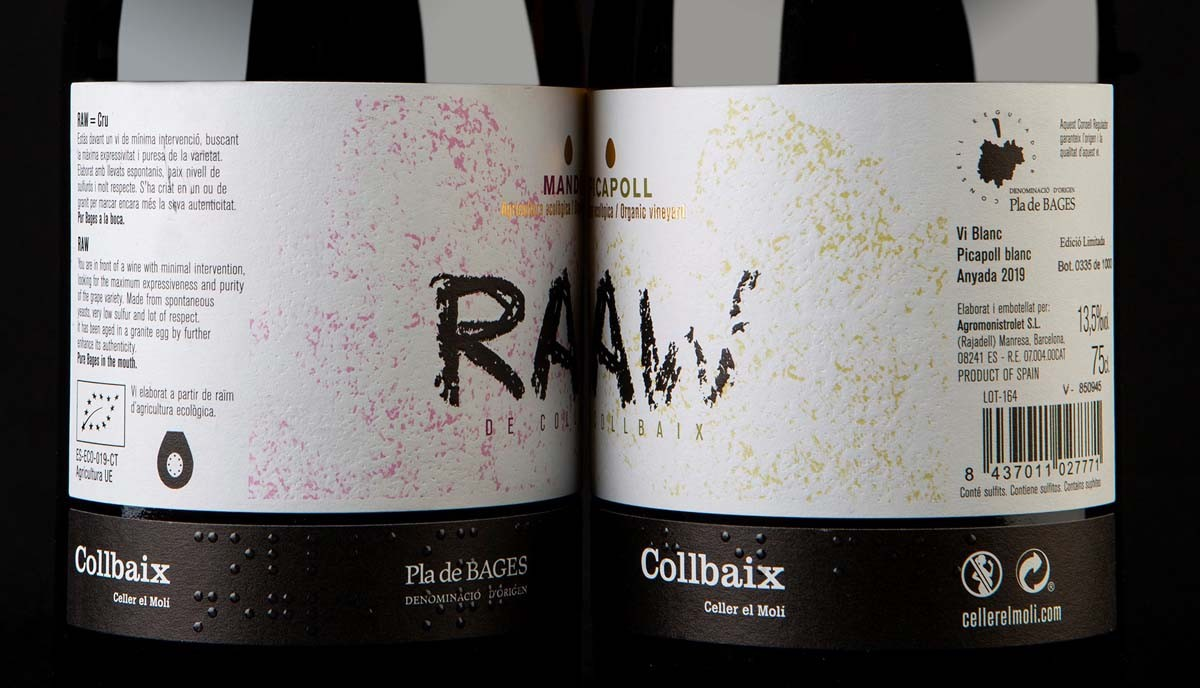 El Raw Picapoll i el Raw Mandó de Collbaix Celler el Molí.