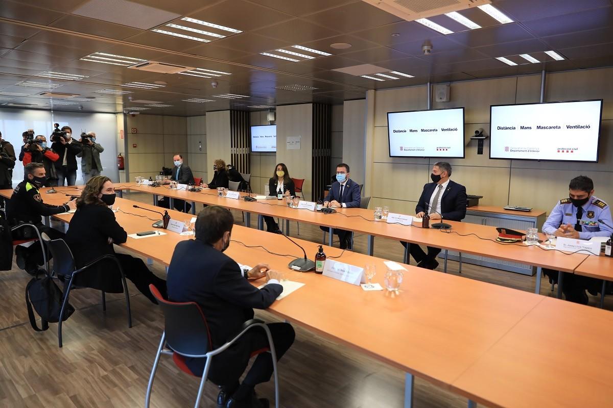 Reunió entre el Govern i l'Ajuntament de Barcelona