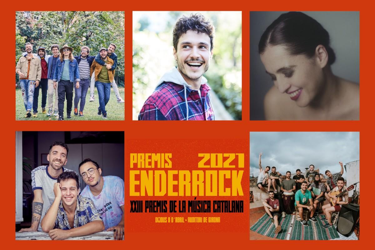 Artistes més nominats als Premis Enderrock 2021
