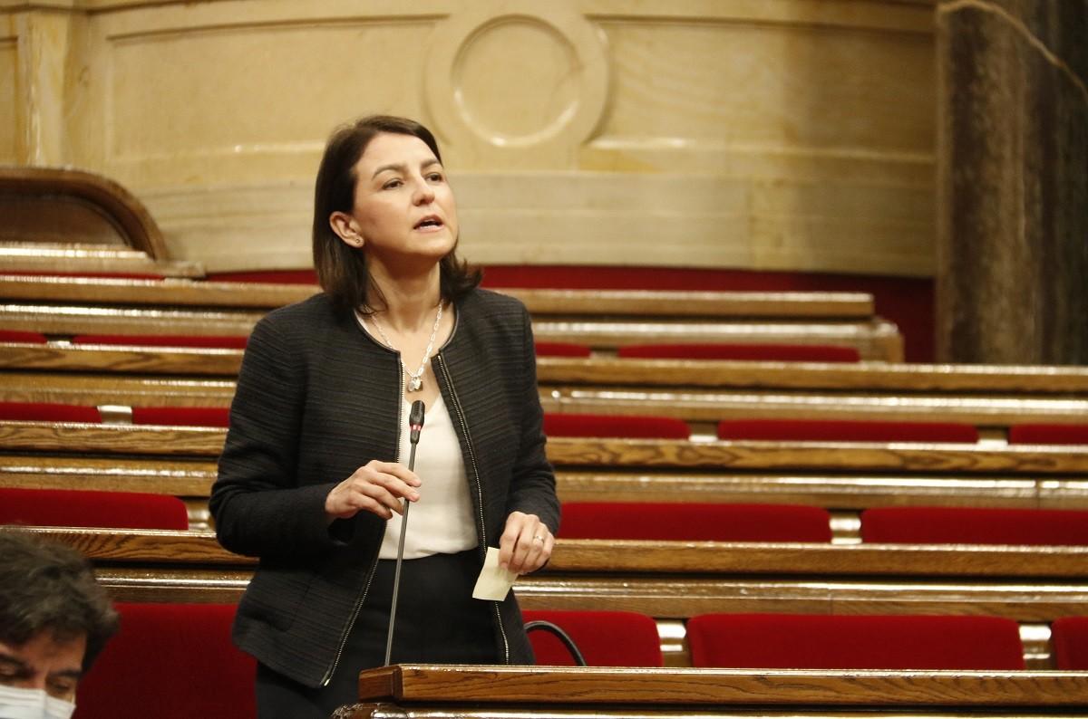 La portaveu del PSC al Parlament, Eva Granados, aquest dimecres al Parlament