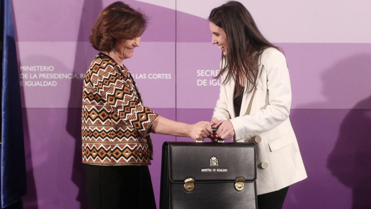 Carmen Calvo i Irene Montero han protagonitzat les discrepàncies entre PSOE i Podem en la qüestió feminista