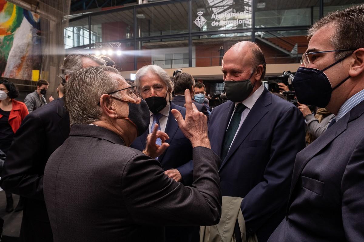 Javier Faus, Javier Godó, Josep Sánchez Llibre i Enric Lacalle en l'acte del 4 de març.