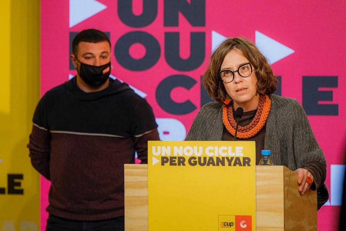 Eulàlia Reguant i Edgar Fernández, en roda de premsa